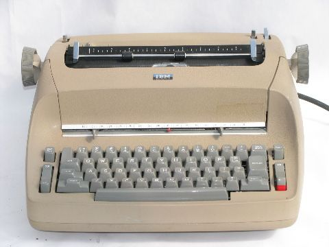 IBM electric typewriter---When I took typing in high school there ...