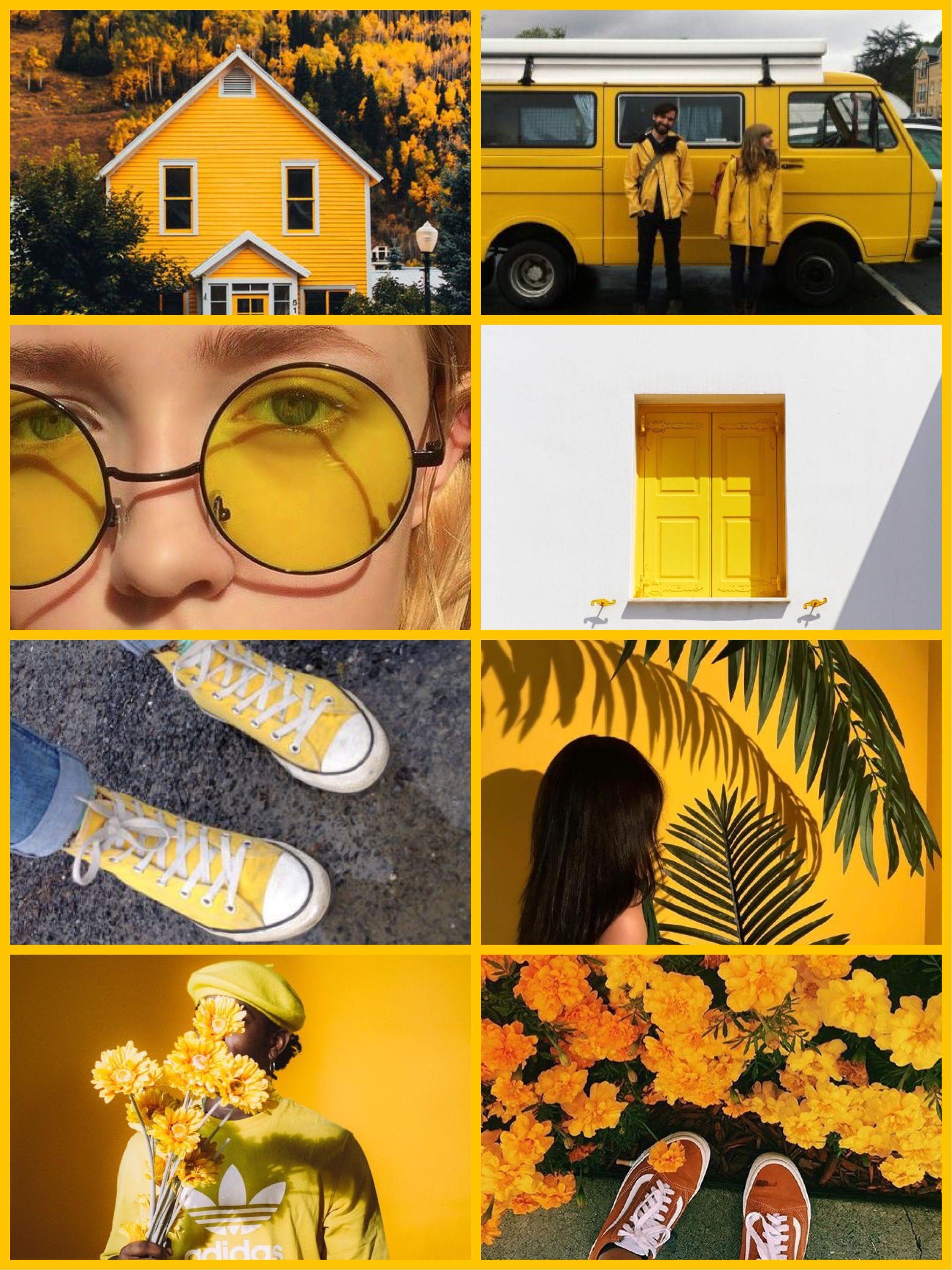 Коллаж Жёлтый   Жёлтые обои, Коллаж, Инстаграм