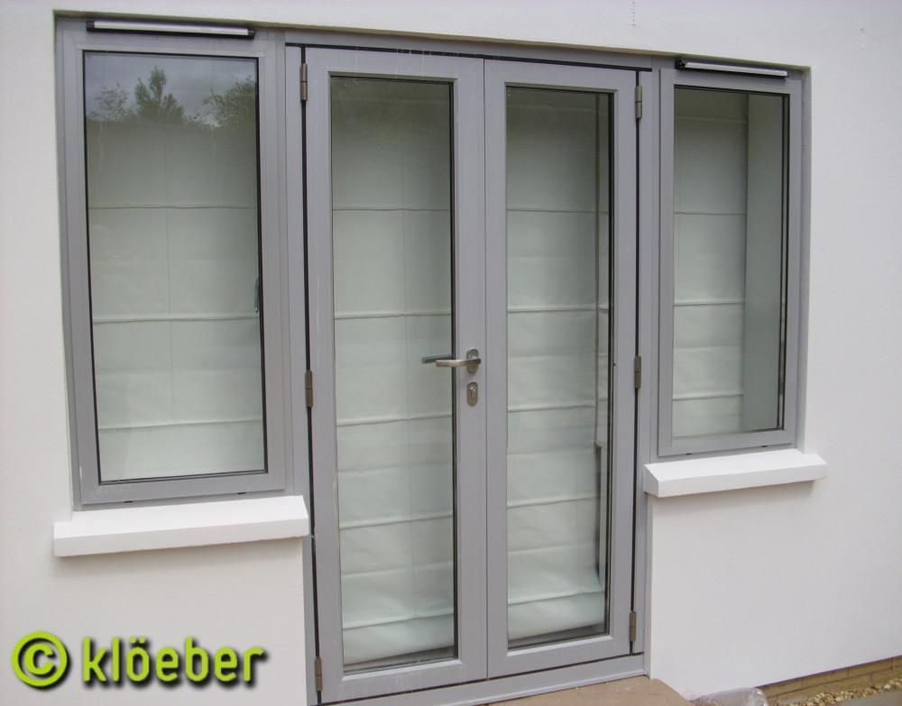 french and single doors aluminium french door