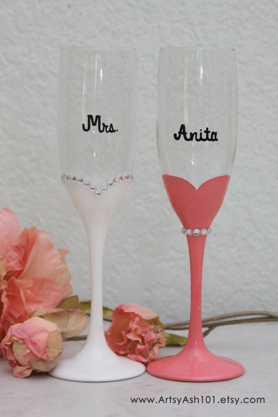 5fd13a82662 Add some extra bling to your glasses! This listing is for the rhinestone  edging for the bride glass only