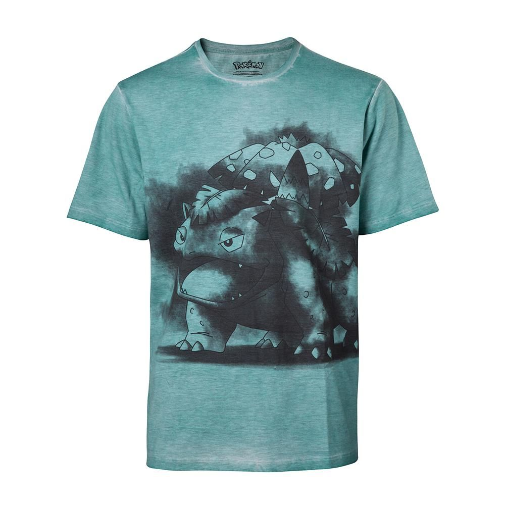 Pokémon - Venusaur oil washed loose fit heren unisex T-shirt groen |