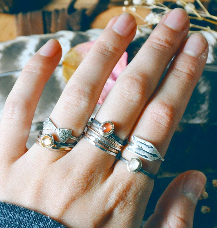 Stacking rings. <3 by TheBellJar.nl