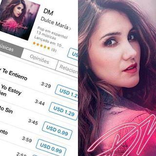 A espera terminou! Finalmente o álbum DM de @DulceMaria já está disponível no iT Instagram