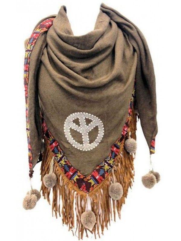 43e74280941 ibiza sjaal peace - Google zoeken | hmm I need | Poncho shawl ...