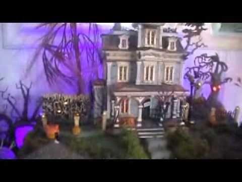 Dept 56 and Lemax spooky halloween village 2011 #halloweenvillagedisplay