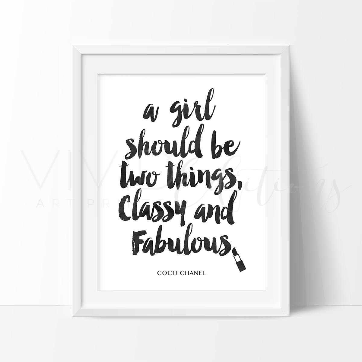 How can you tell if you have black mold  Classy u Fabulous Chanel Quote Black u White Watercolor Art Print