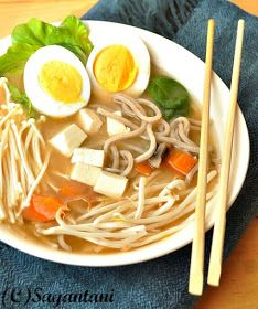 A Homemaker's Diary: Miso soup with noodles and vegetables