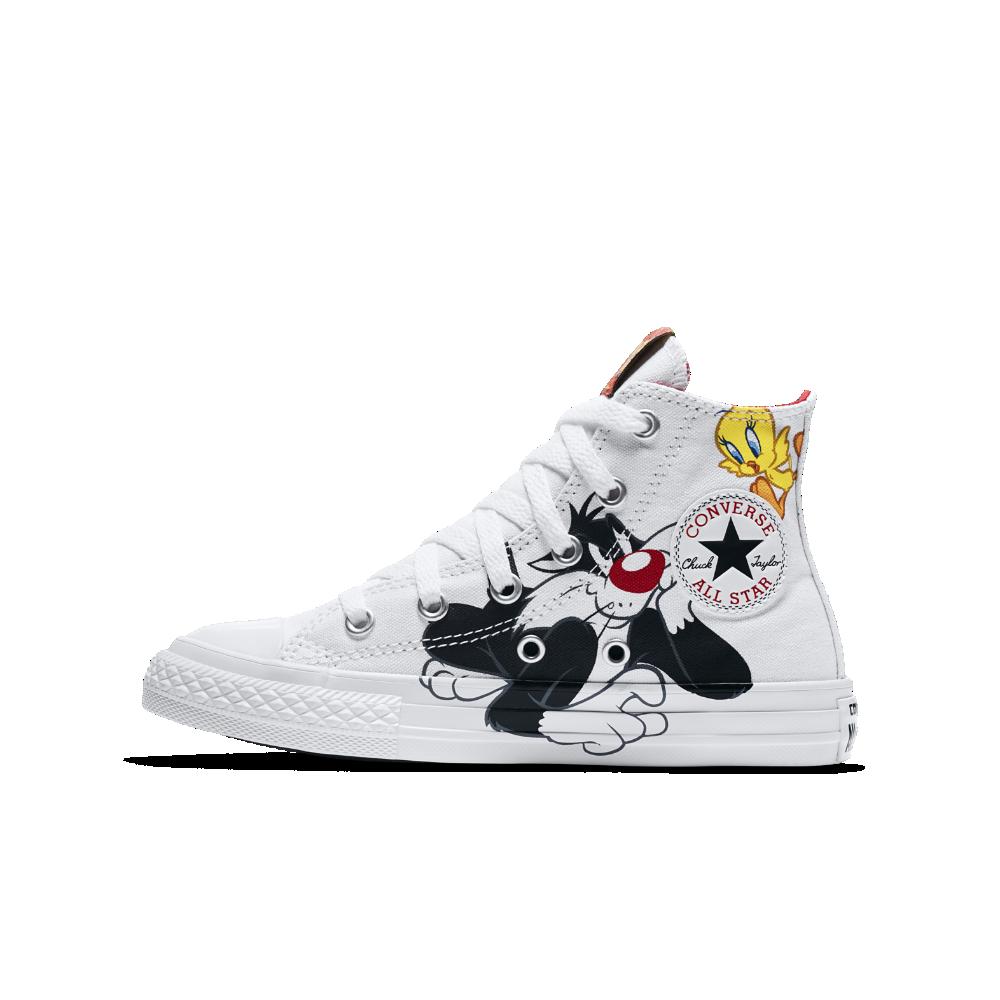 4030b7333d5e Converse Chuck Taylor All Star Looney Tunes High Top Little Big Kids  Shoe  Size 11C (White)