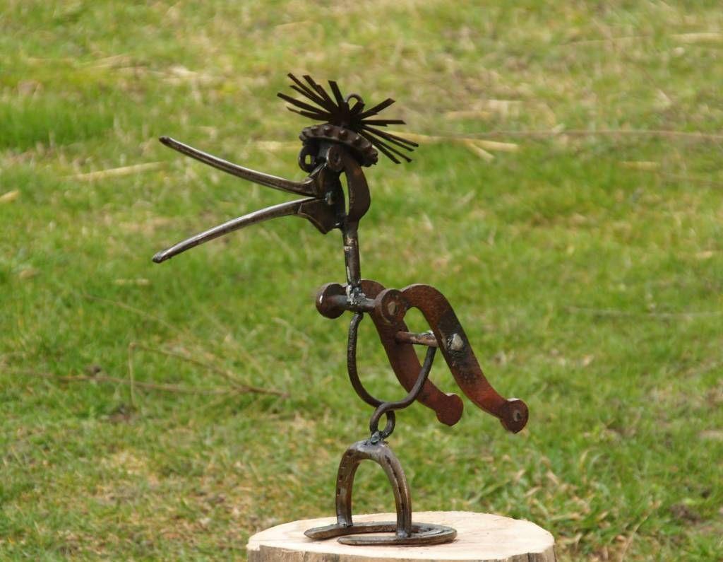 La Lissonnière, art des jardins, sculptures en métal et vieux