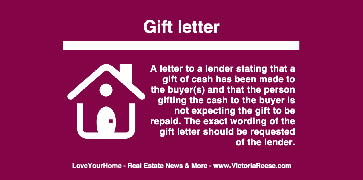 Today's Real Estate Term: Gift Letter #loveyourhome #realestate