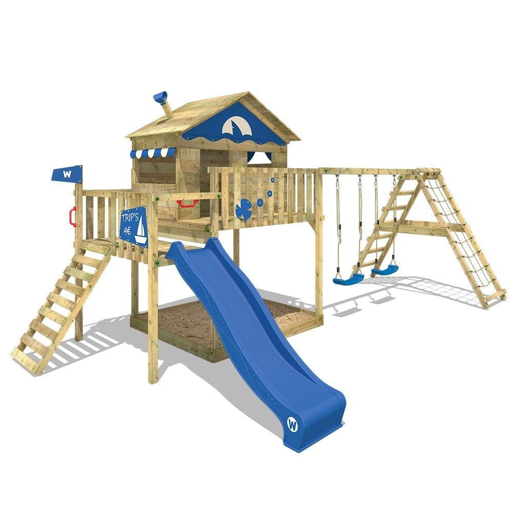 Der Wickey Smart Ocean Spielturm Mit Kletternabau Und Spielhaus Lasst Kinderaugen Strahlen Made In Germany Spielturm Wickey Spielturm Spielturm Mit Schaukel