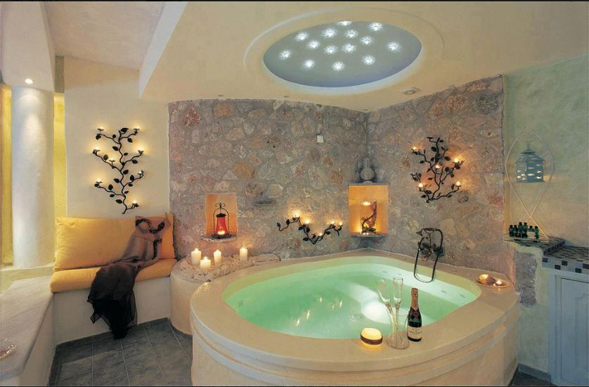 Love This I Like How The Tub Is In The Corner And Away From Everything Else Usually The Tub Sits In Th Indoor Hot Tub Romantic Bathrooms Amazing Bathrooms