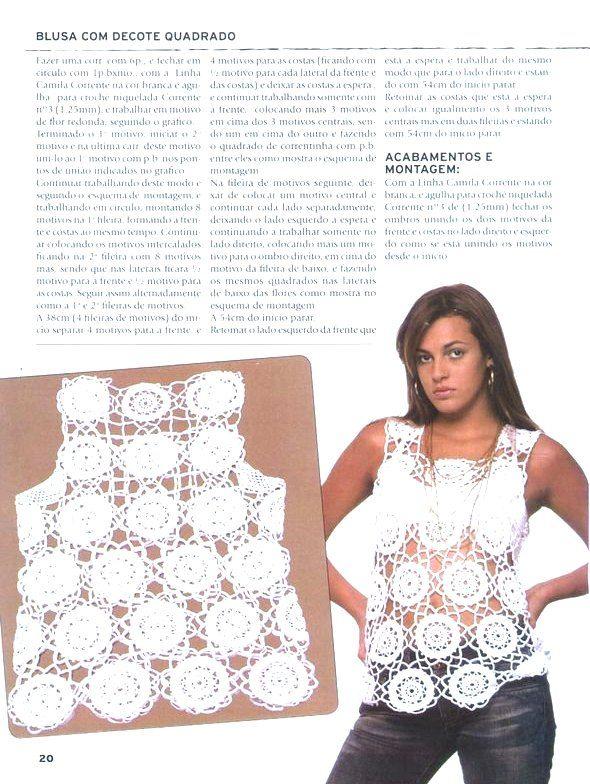 Top+cuadrado+con+motivos+redondos-1.jpg (590×784) | camiseta ...