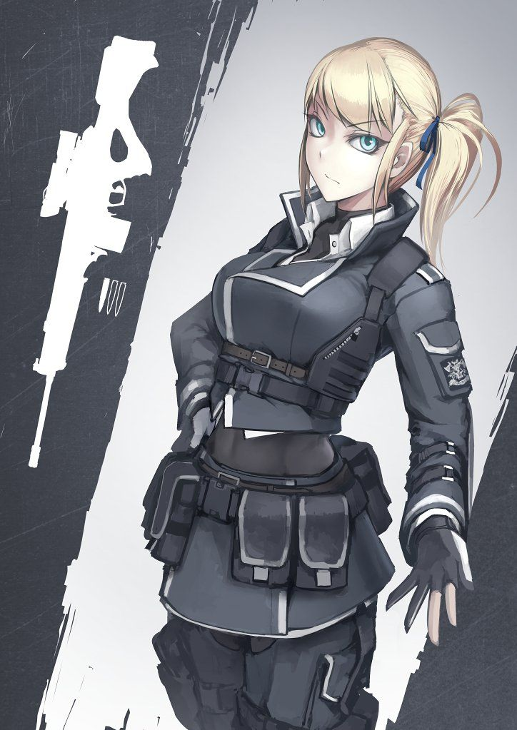 Possible cult uniform concept female character anime - Anime sniper girl ...