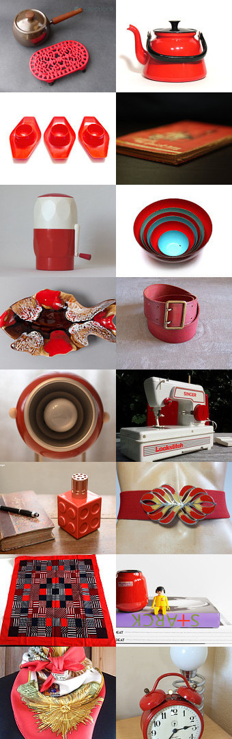 Red vintage finds from The French Vintage Team by Laura on Etsy--Pinned+with+TreasuryPin.com