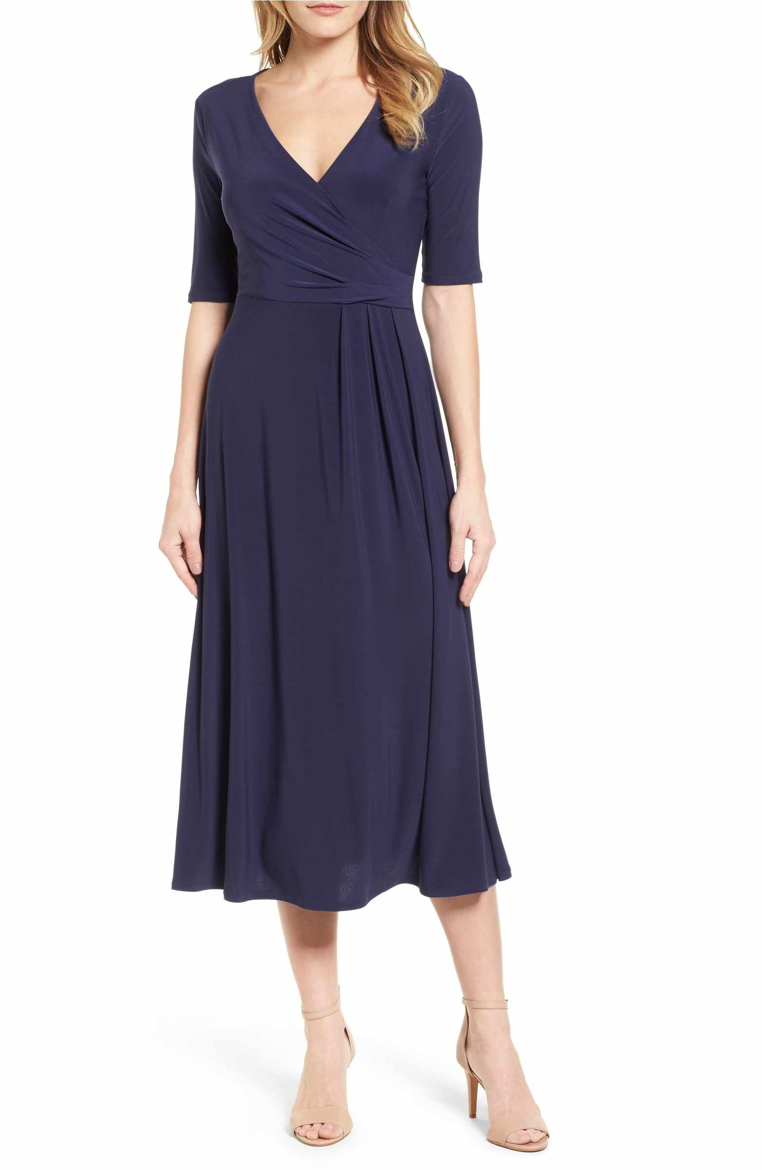 Laura Faux Wrap Midi Dress | Midi dresses, Wraps and Wrap style