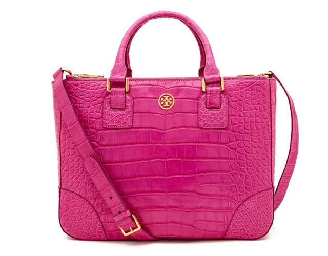 Tory Burch Robinson Double Zip Tote in Alligator Leather | Bragmybag