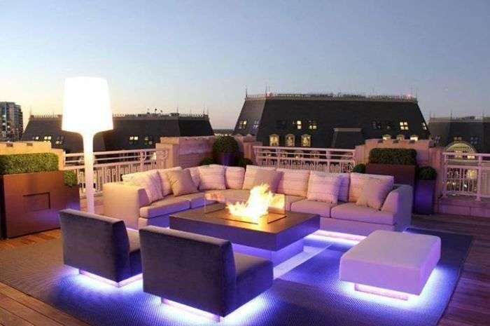 Come illuminare il terrazzo giardino terrazzo