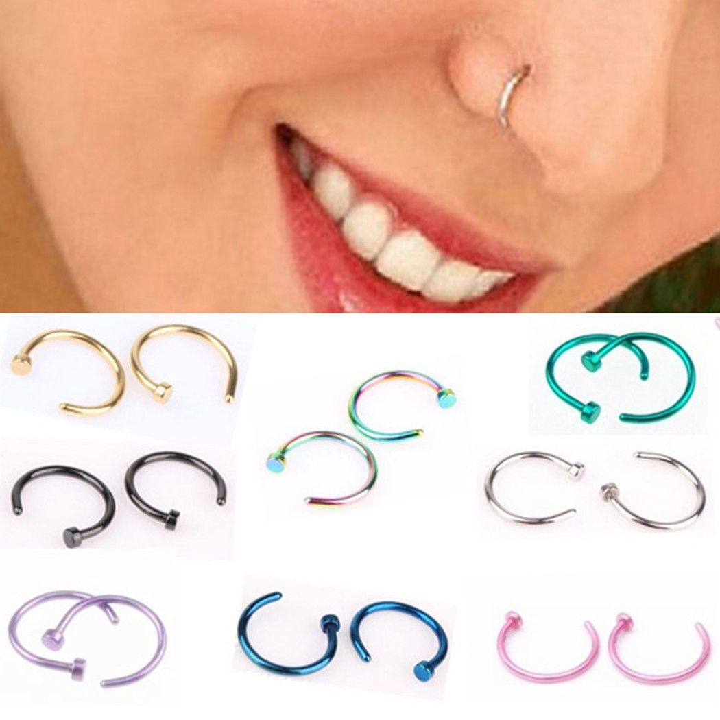 Nose piercing ripped out  Didadi Body Piercing Jewelry ebay Jewellery u Watches  Body