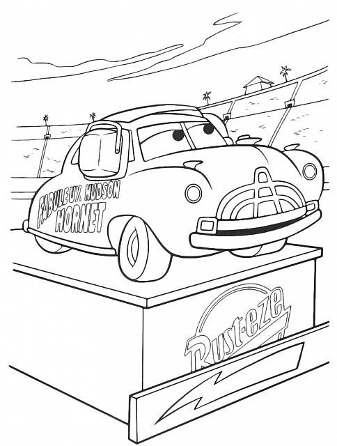Doc Hudson E La Corsa Cars Da Colorare Gratis Coloring Pages