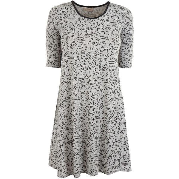 Grey Overiszed T-shirt Dress