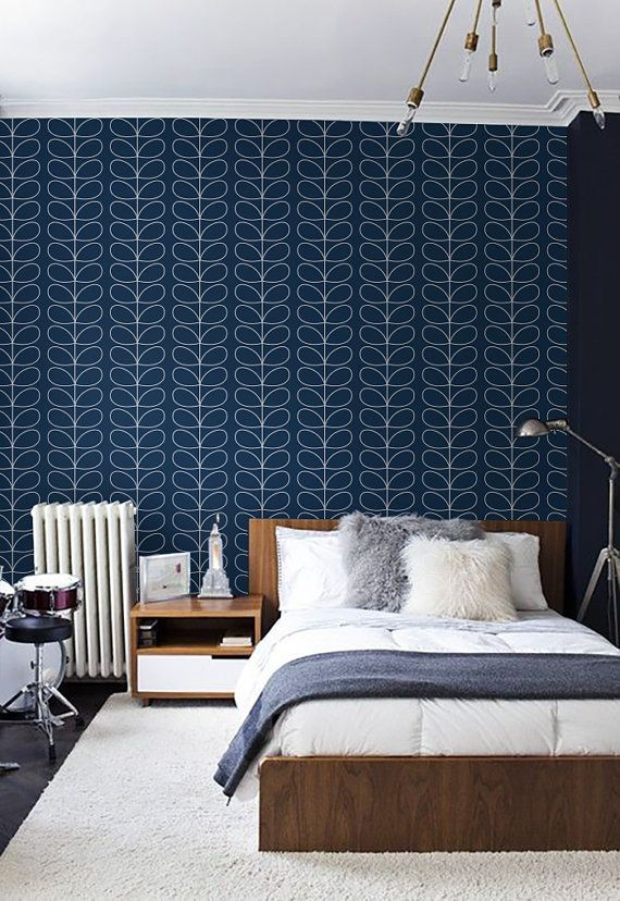 Selfadhesive Peel And Stick Vinyl Wallpaper Leaf Pattern Etsy Peel And Stick Vinyl Vinyl Wallpaper Accent Walls In Living Room