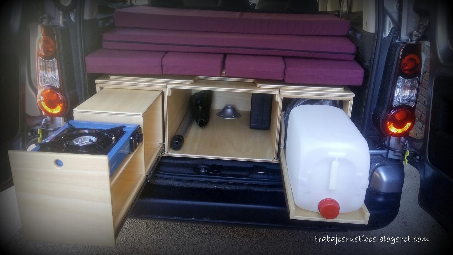 Artesan a madera muebles de madera r sticos camperizaciones camper furgonetas camperizar - Muebles de madera rusticos ...
