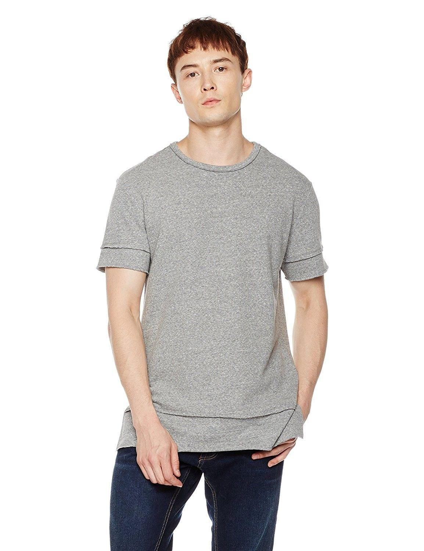 Mens slim fit short sleeve heritage tee gray