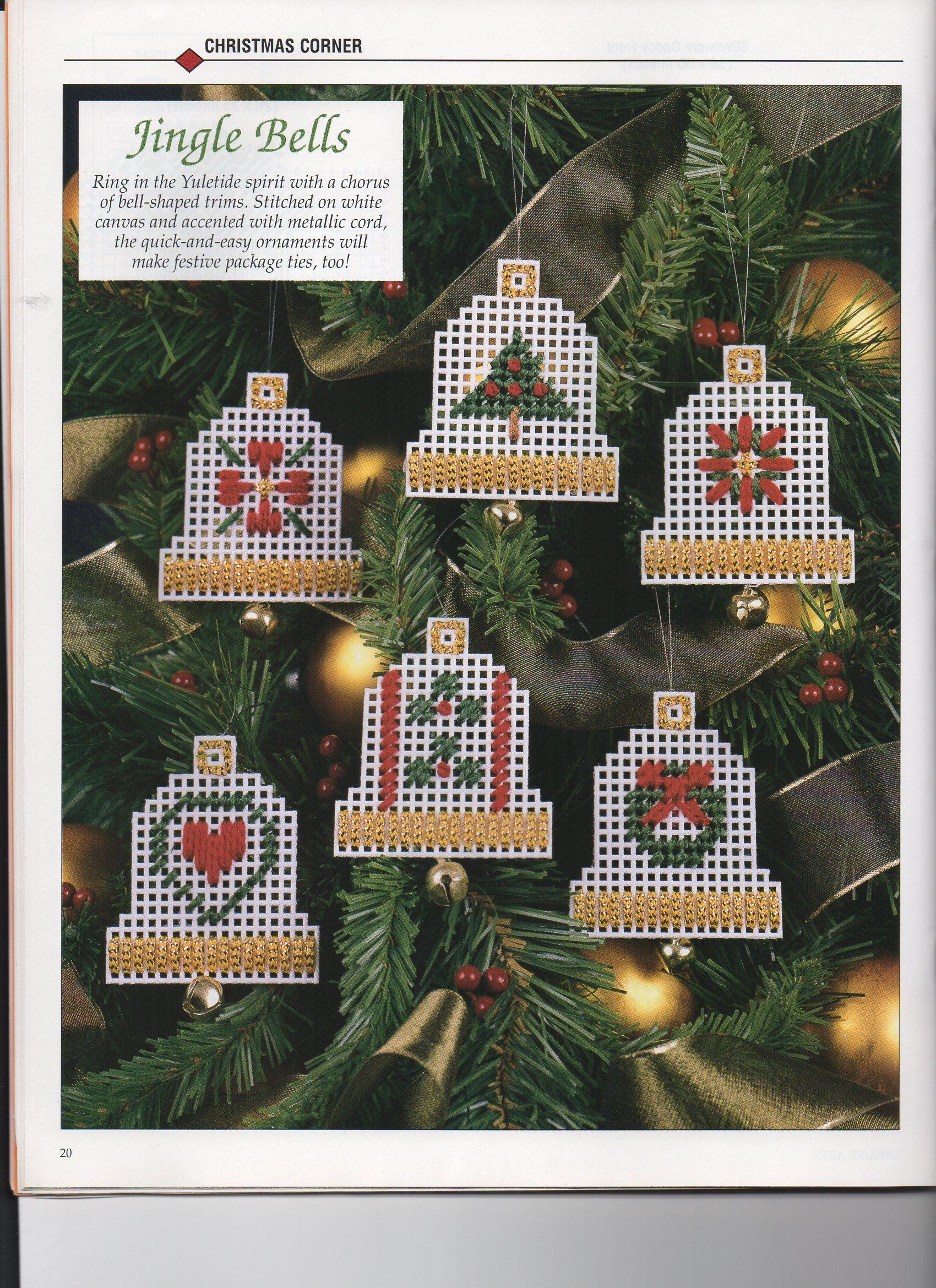 Plastic Canvas Christmas Ornaments.Plastic Canvas Christmas Ornaments Jingle Bells 1 Create