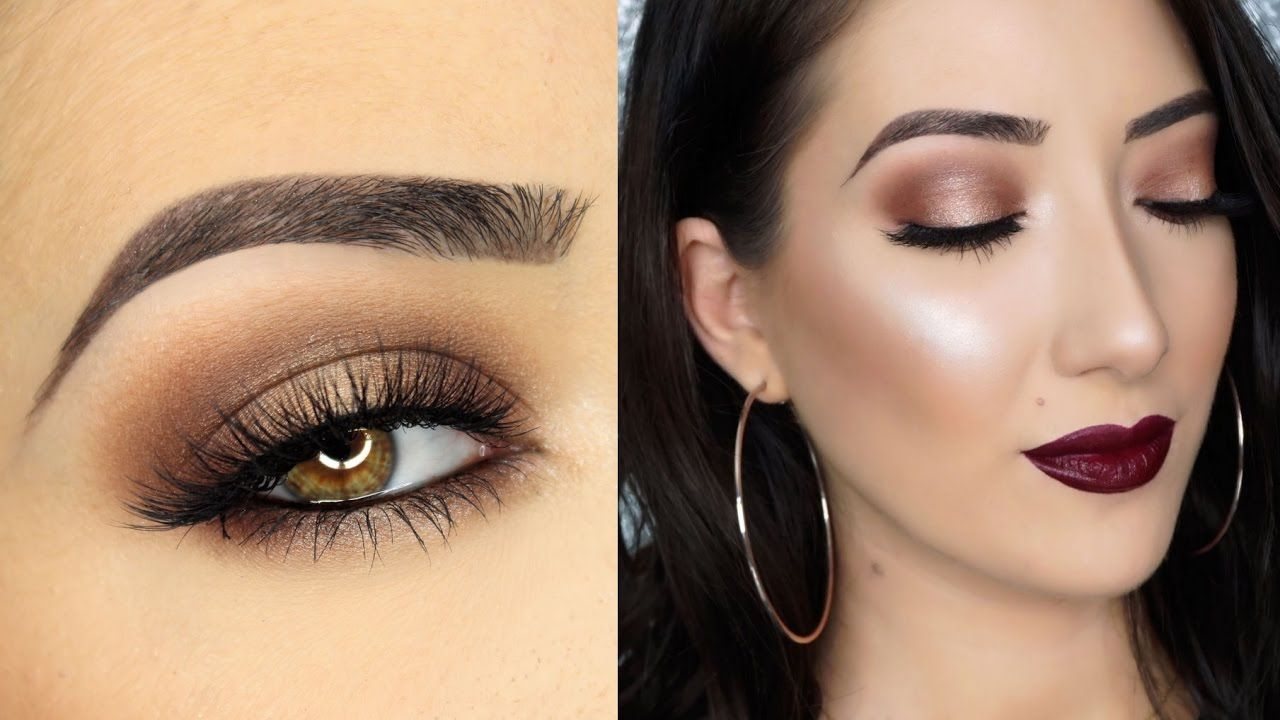 Neutral halo smokey eye tarte maneater palette make up hair open me theres nothing better than a neutral eye paired with a vampy lip i hope you enjoyed this neutral halo smokey eye makeup tutorial using the ta baditri Images