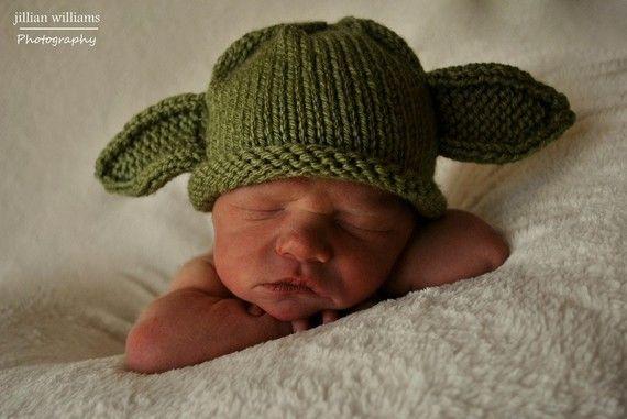 Cute Yoda Hat   Baby hats, Baby warmer, Hat knitting patterns