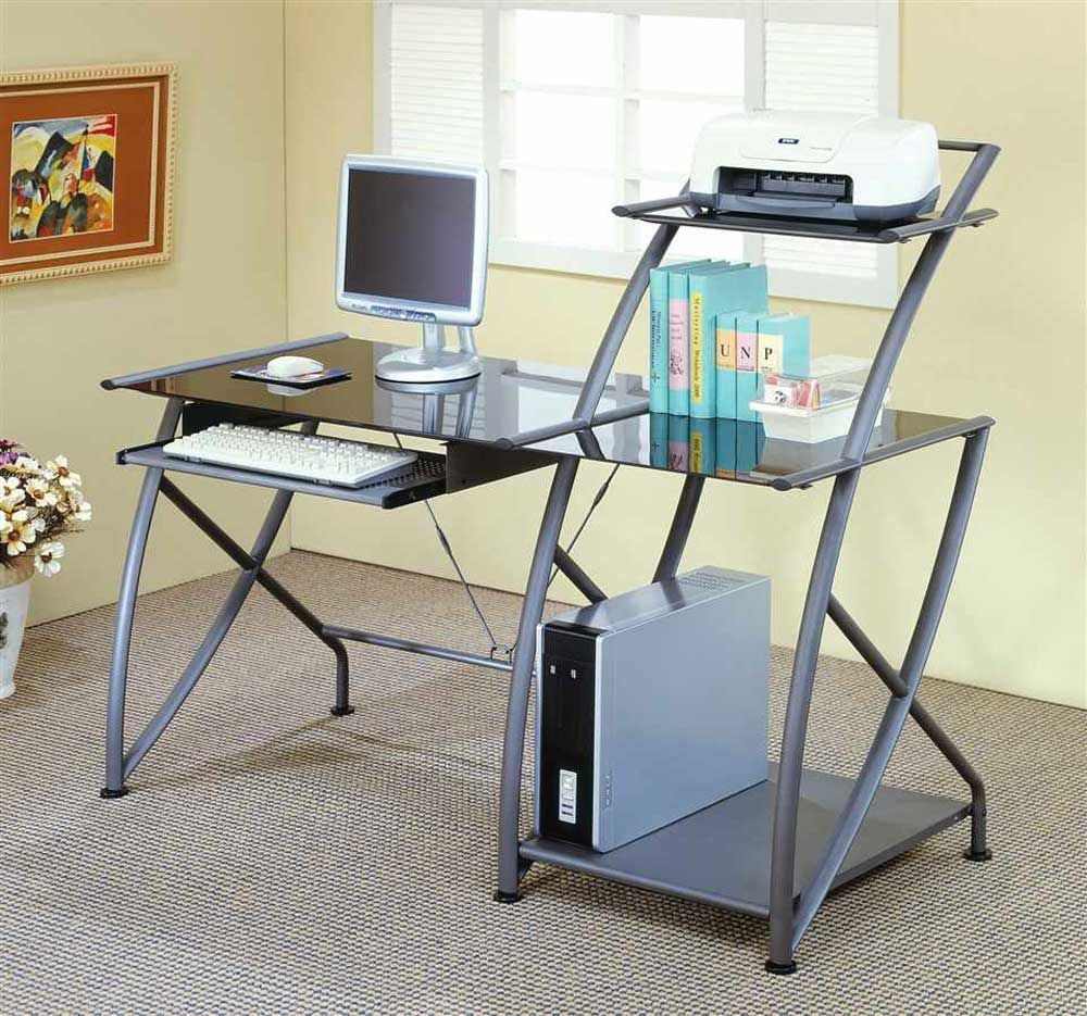 Glass Metal Modular Computer Desk Design Furniture Computer Desk Diy Computer Desk Computer Desk Design