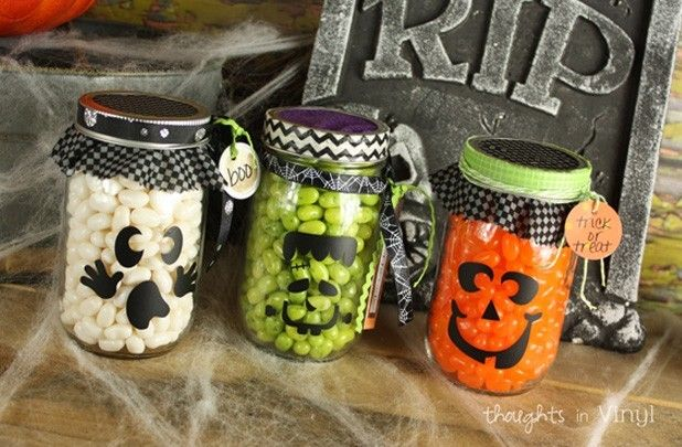 Buy One Get One FREE Mason Jar Decals 75 off at Groopdealz - halloween jar ideas