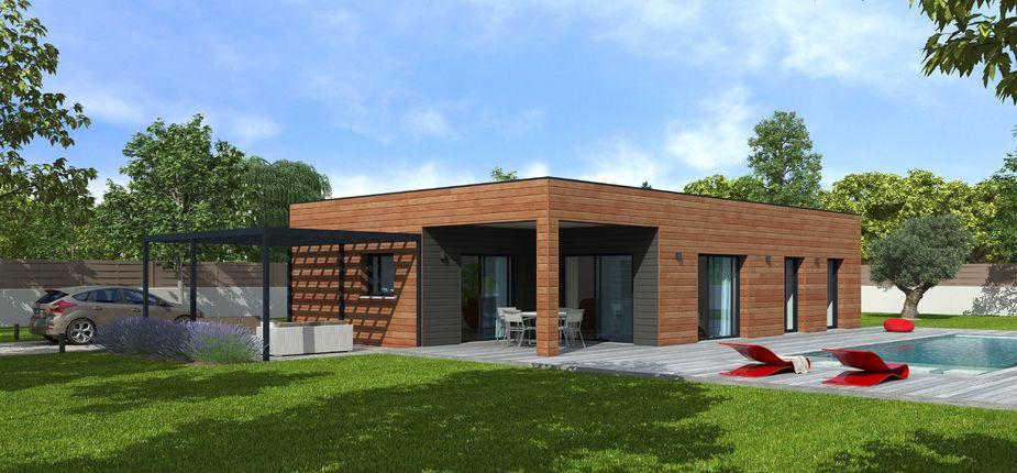 Le modèle Natisoon Toit terrasse Issue de notre gamme contemporaine - maison bois en kit toit plat