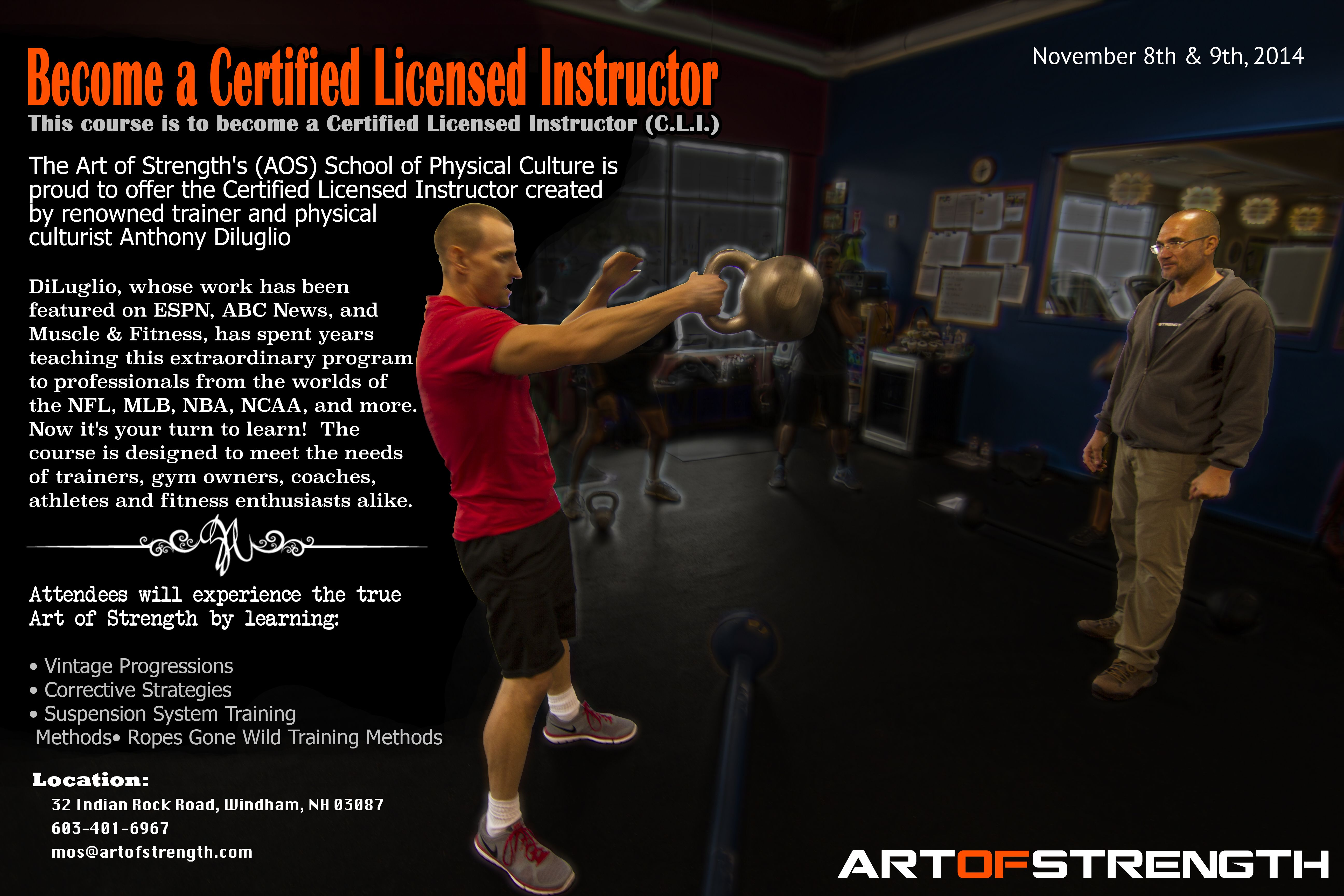 Fitness Certification C L I Certified Licensed Instructor Fitness Development Fitness Certification