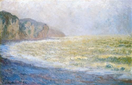 Cliff at Pourville - Claude Monet