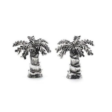 Mud Pie Metal Palm Tree Salt And Pepper Set: Amazon.com: Home U0026