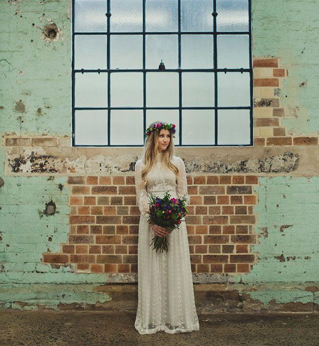 Laid-back Australian Warehouse Wedding: Jen + Luke