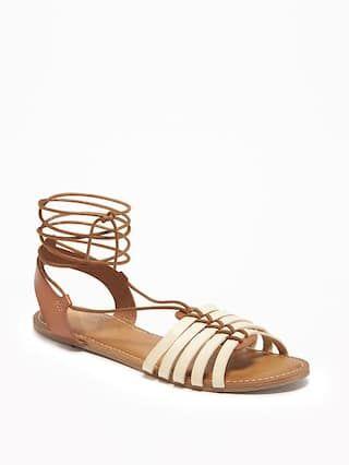 Lace-Up Huarache Sandals for Women
