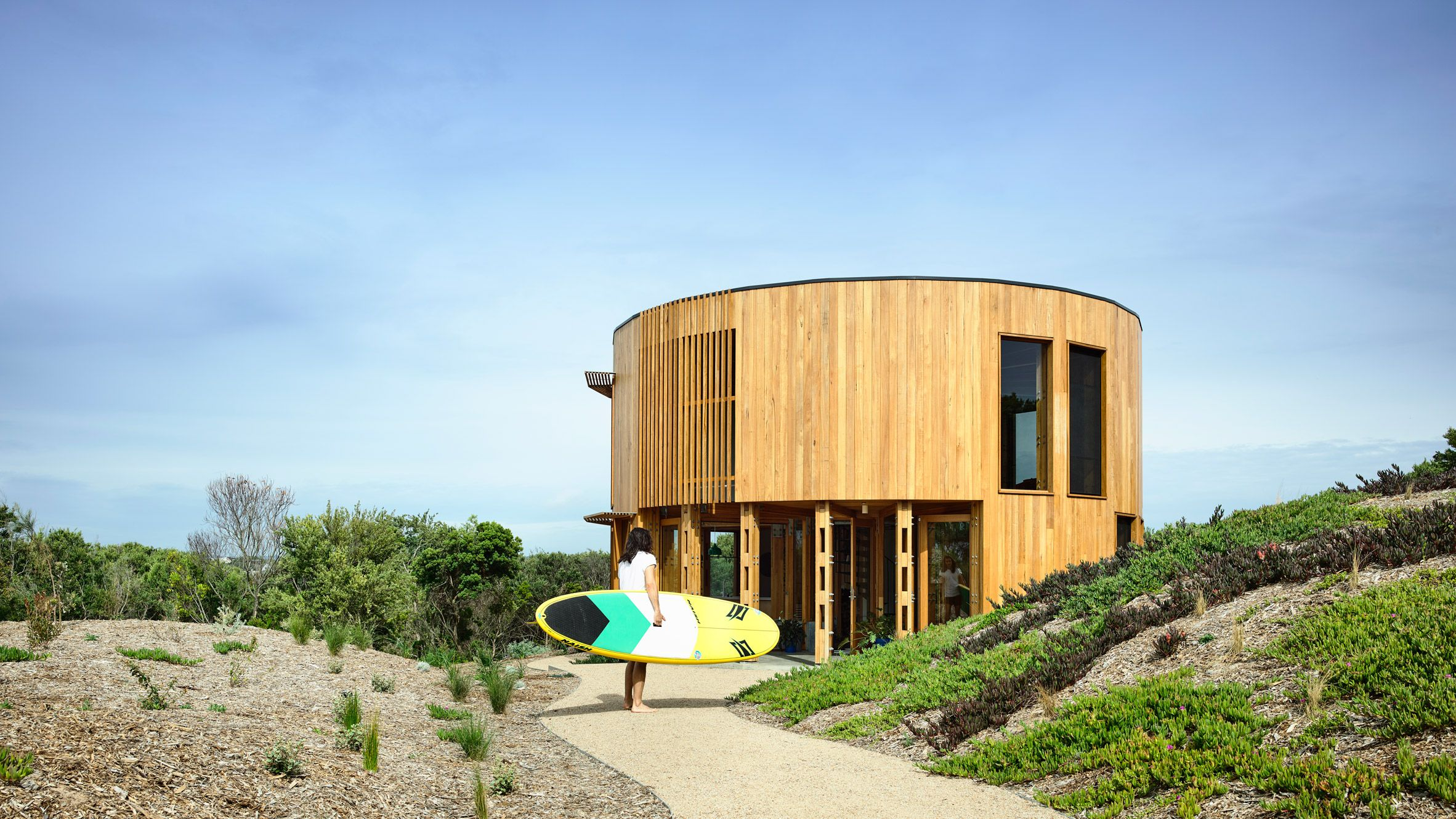A Cylindrical Timber Holiday Home Designed By Austin Maynard