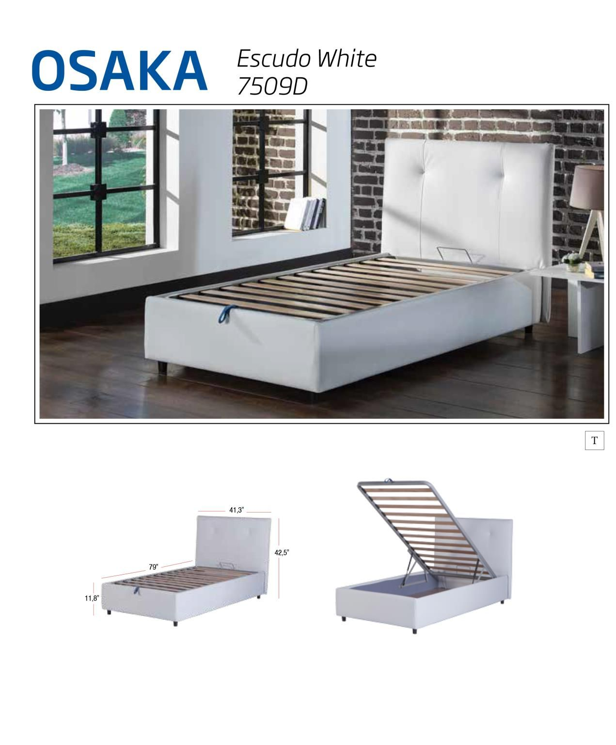 Lift Up Storage Bed Leather Textile