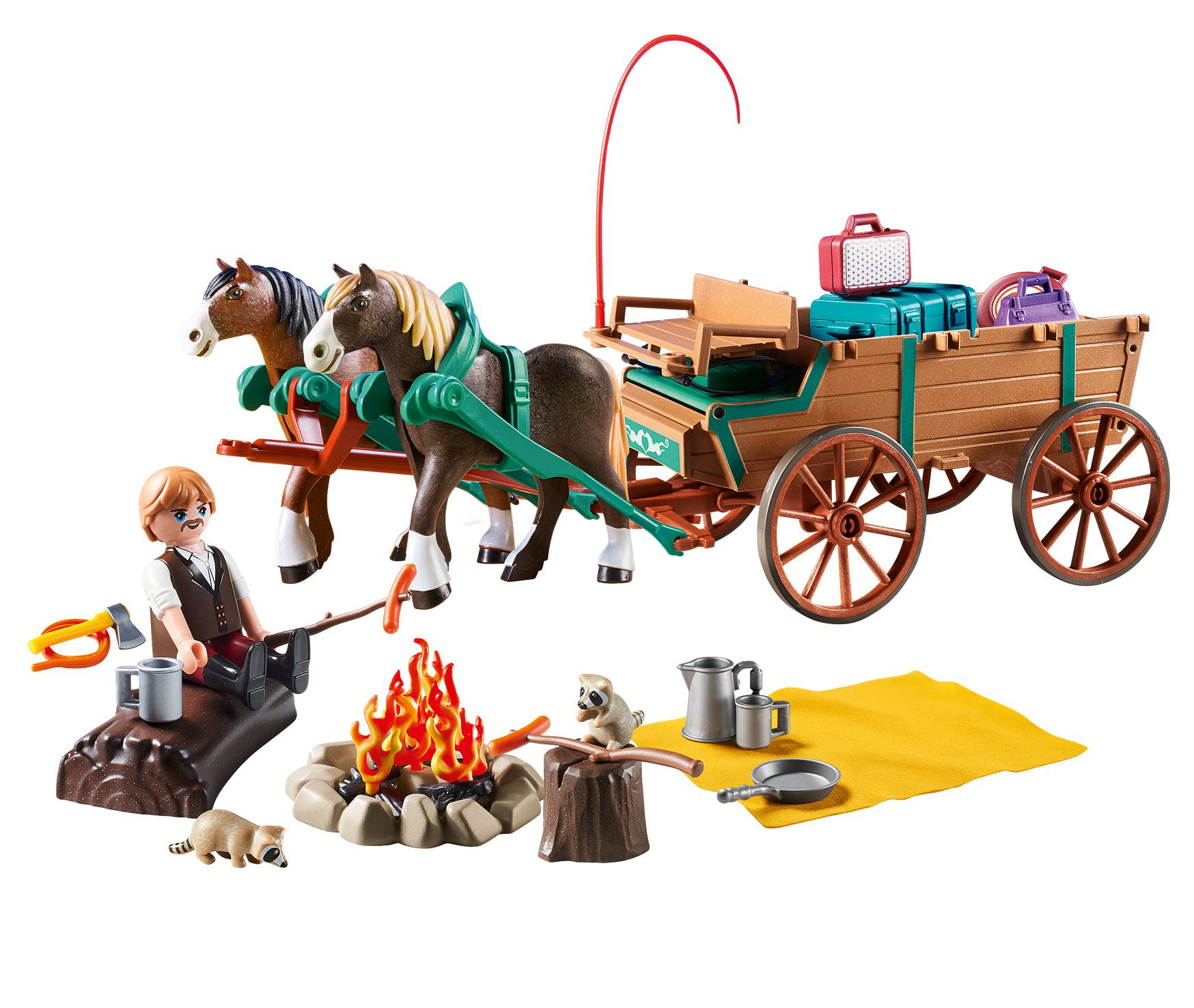 2020 Coral House Christmas Horse Wagon Ride PLAYMOBIL Spirit Riding Free Lucky's Dad and Wagon   Walmart.