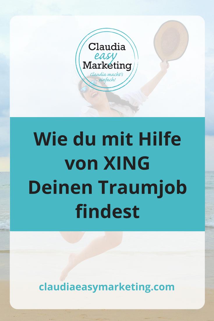 Traumjob finden mit XING | Traumjob, Job, Marketing
