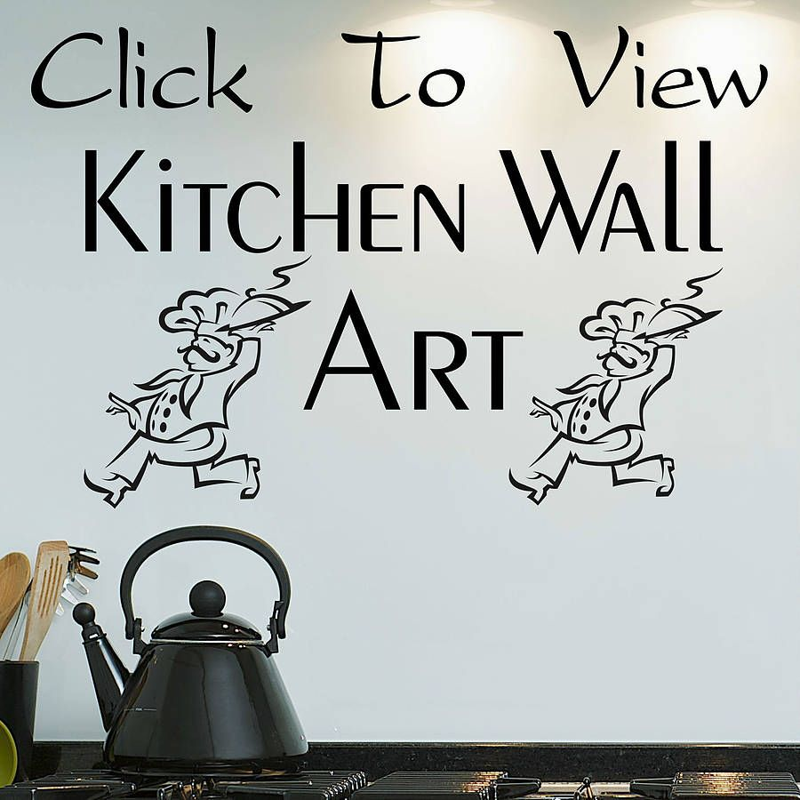 kitchen wall art stickers by wall decals uk by gem designs ...