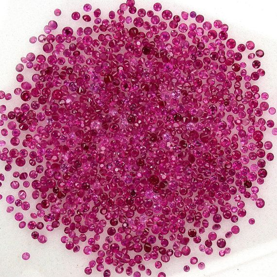 Natural Loose TOP Pink Red Ruby diamond cut round AAA grade 1.10 mm to 1.20 mm 1.00 ct lot