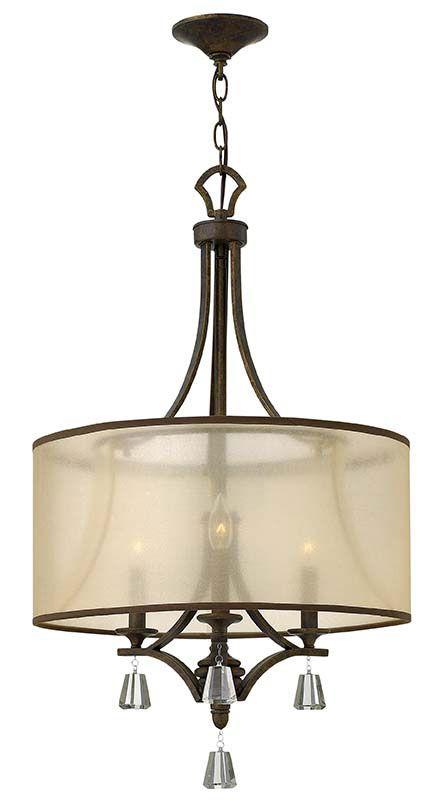 Fredrick Ramond FR45606FBZ Mime Small 19 Inch Diameter French Bronze Lighting Chandelier - FR-45606FBZ