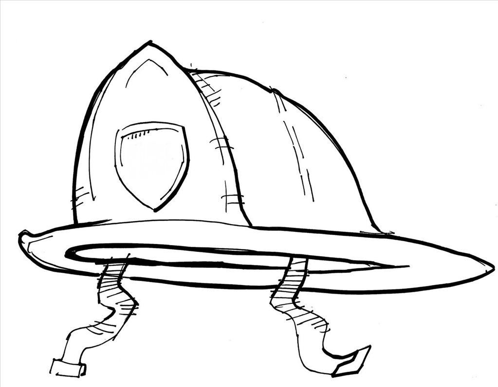Fireman Hat Coloring Pages Printable