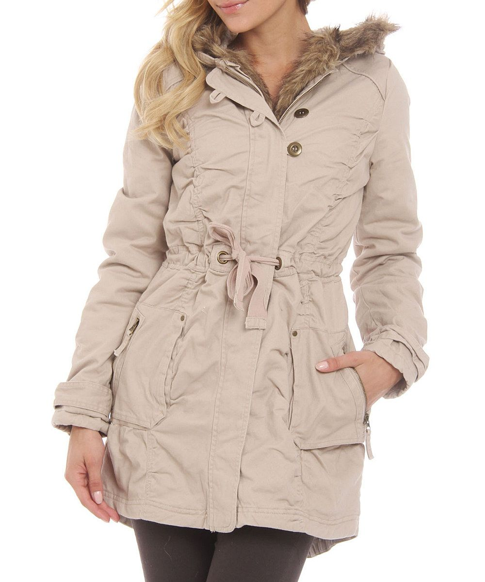 Sylcom fashion faux shearling-lined anorak