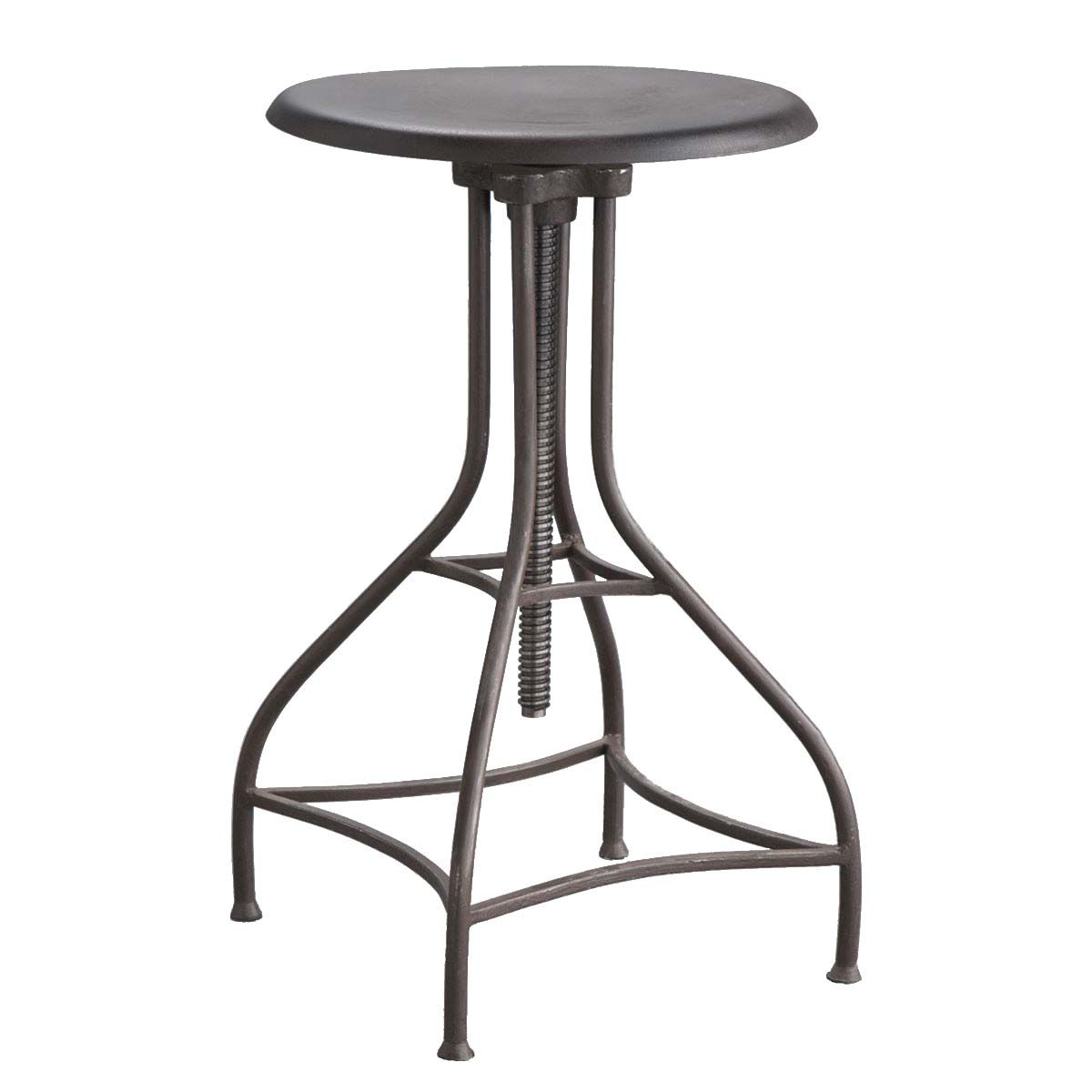 Antiqued Iron Stool > This iron stool has an Industrial Era edge that contributes a cool, contemporary style adjustable to fit any counter or bar.  Shop > http://ss1.us/a/541YtVAP