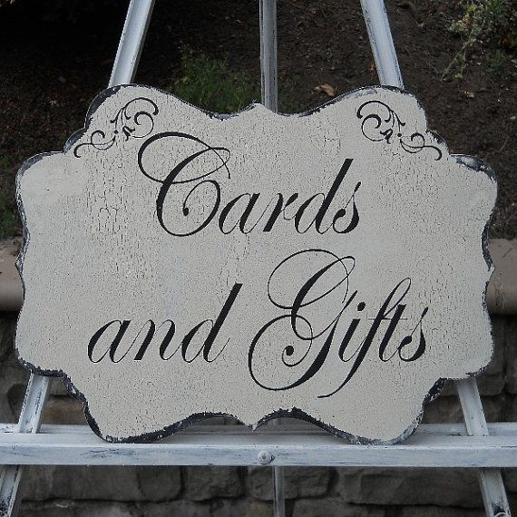 Shabby Chic Wedding Table Decorations: WEDDING SIGN Cards And Gifts Reception Decor Wedding Table